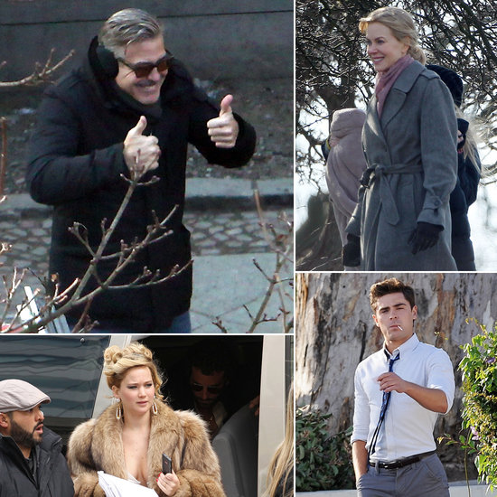 George Clooney, Jennifer Lawrence, Nicole Kidman, and More Stars on Set