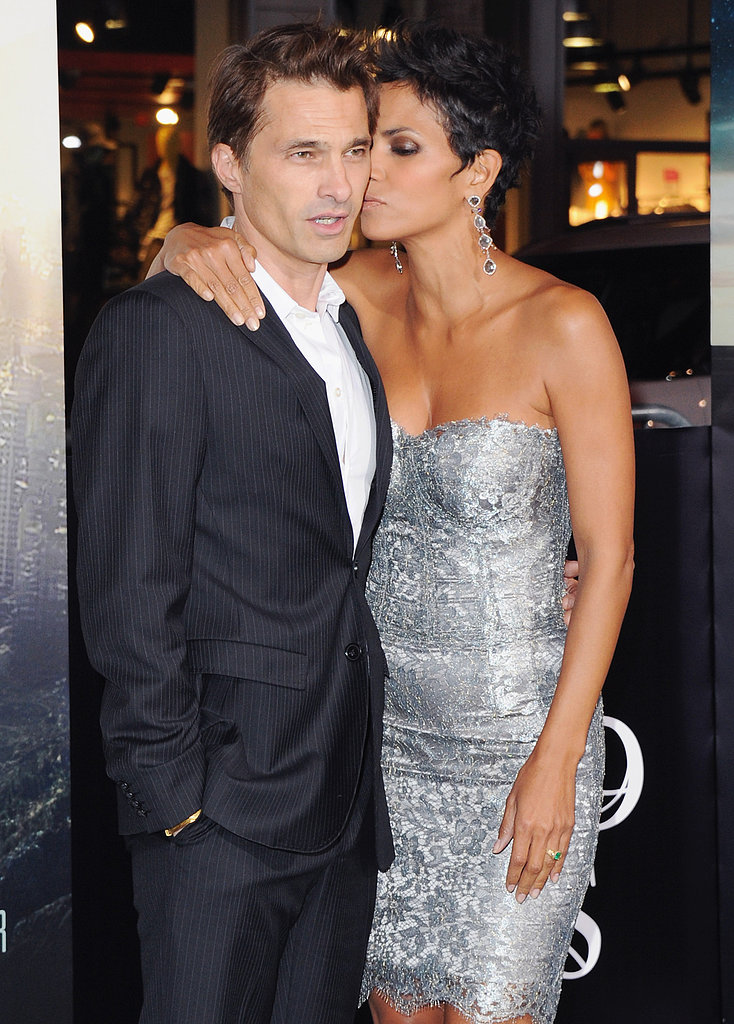 In October 2012, Halle Berry gave Olivier Martinez a sweet kiss on the cheek at her Cloud Atlas premiere in LA.