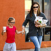 Jennifer Garner and Violet at McDonald's (Photos)