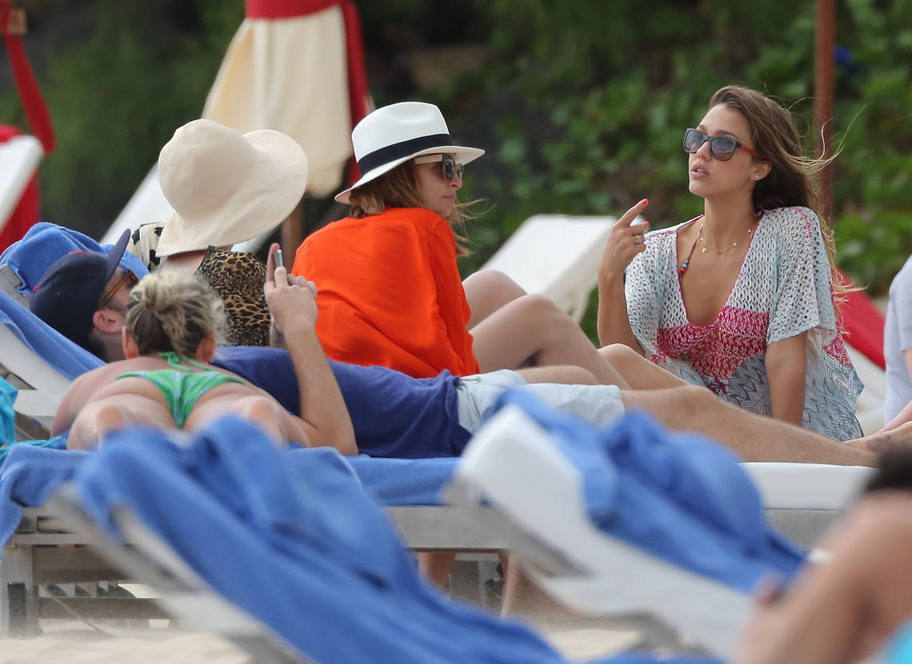 Jessica Alba and Nicole Richie spent time together in St. Barts on Friday.