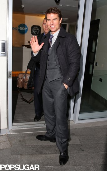 Tom Cruise and Olga Kurylenko Leave London and Land in Taiwan