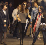 Olga Kurylenko stepped out in Taiwan with a smile.
