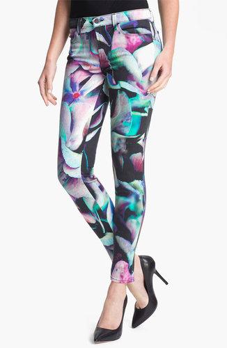 J Brand Print Super Skinny Jeans (Hydrangea)