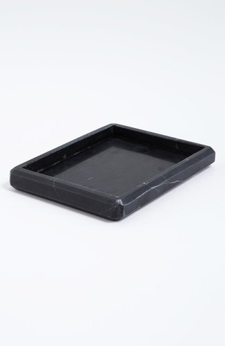 Waterworks &#039;Luna&#039; Black Marble Soap Dish
