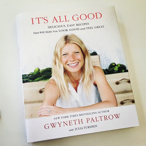 "On Gwyneth Paltrow's latest book It's All Good, brittsteps wrote, ""Gwyneth and I are about to kiki in the kitchen."""
