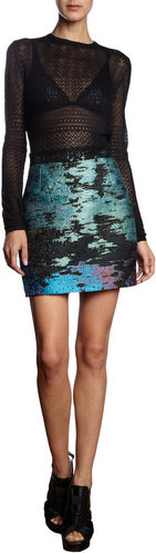 Proenza Schouler Multicolor Tweed Skirt