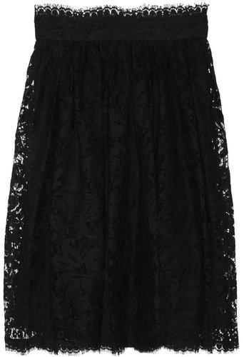 Dolce & Gabbana High-waisted lace skirt
