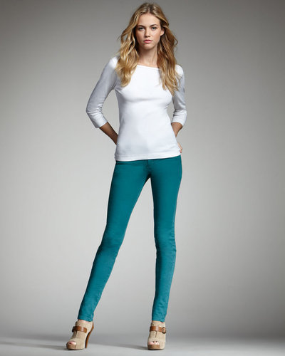Joe's Jeans Chelsea Skinny Pants, Emerald