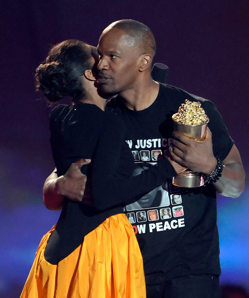 Jamie Foxx accepted the popcorn statue for the Generation Award.