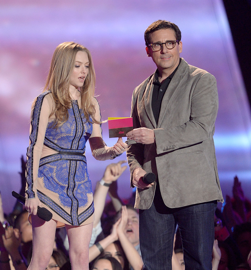 Amanda Seyfried and Steve Carell made an appearance together on stage at the award show.