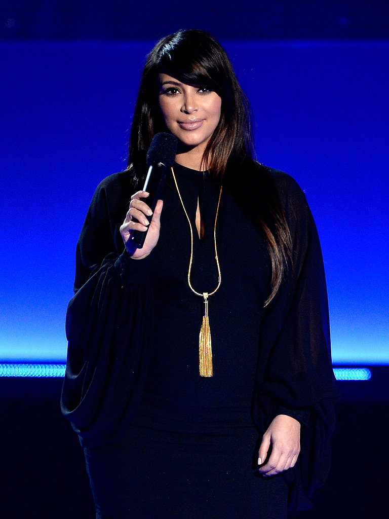 Pregnant Kim Kardashian Takes the MTV Movie Awards Stage