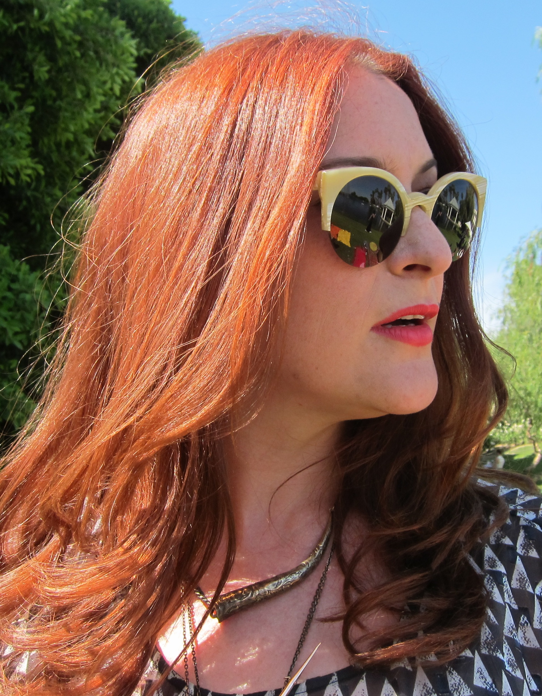 Red hair with red lipstick is twice as nice. Photo: Meg Cuna