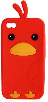 WetSeal Rubber Chicken Phone Case Red