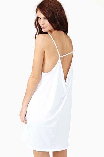 Domi Asymmetric Dress - White