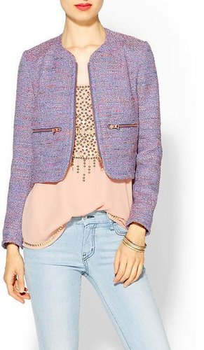 French Connection Rainbow Boucle Jacket