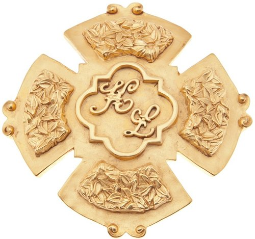 Karl Lagerfeld Vintage Karl Lagerfeld logo brooch