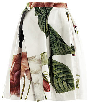 Vivienne Westwood Anglomania Liberty rose puzzle-print skirt