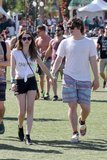 Emma Roberts went to Coachella with boyfriend Evan Peters.