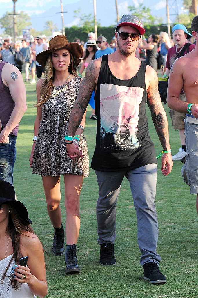 Audrina Patridge and Corey Bohan held hands as they made their way around Coachella.