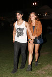 Blanda Eggenschwiler kept a tight grip on Joe Jonas.
