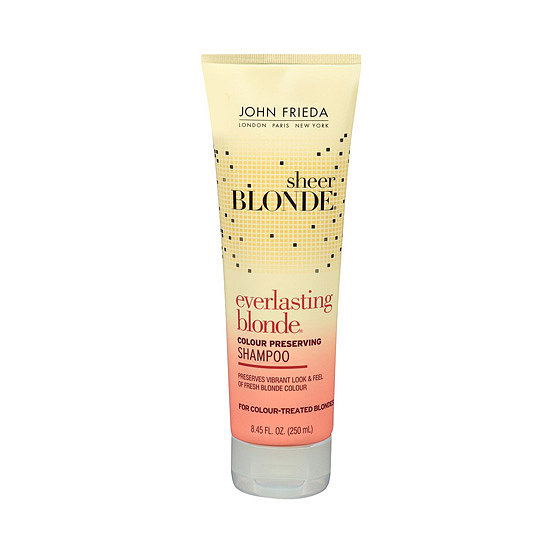 Blond-haired ladies know that maintaining their color requires some serious care. John Frieda Sheer Blonde Everlasting Blonde Shampoo ($6) has been recently reformulated to offer even better hair color protection.