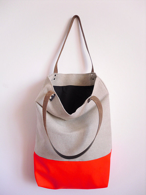 Neon-Bottomed Tote