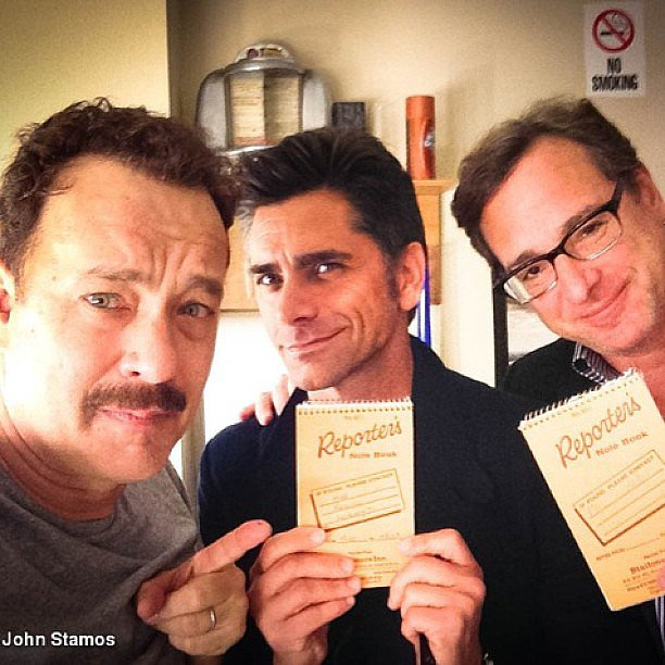 John Stamos and Bob Saget went to go see Tom Hanks during his Broadway run for Lucky Guy. Source: Instagram user johnstamos