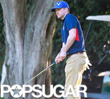 Justin Timberlake hit the golf course in Toluca Lake.