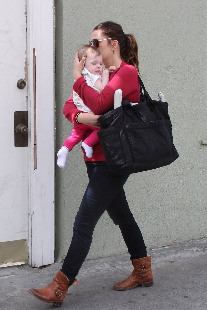 Drew Barrymore held tight to Olive Kopelman in LA.