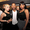 Miley Cyrus and Jennifer Hudson at Pharrell's Birthday Party
