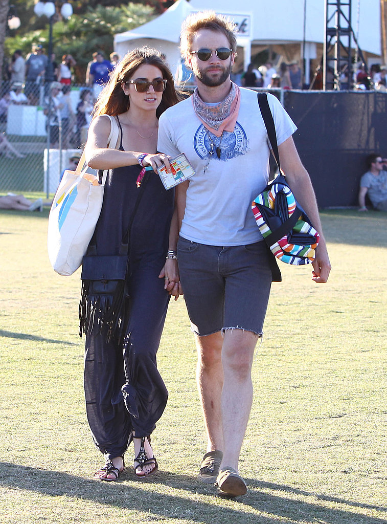 Nikki Reed and Paul McDonald held hands in 2012.