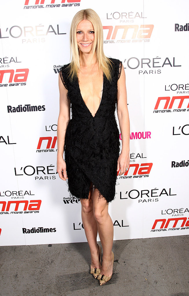 At the National Movie Awards in London, Gwyneth's plunging Roksanda Ilincic dress and bow-accented Christian Louboutin pumps toed the sexy and sophisticated line perfectly.