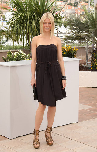 Gwyneth kept it classic in a strapless Céline dress and beaded Giuseppe Zanotti sandals during the 2008 Cannes Film Festival.
