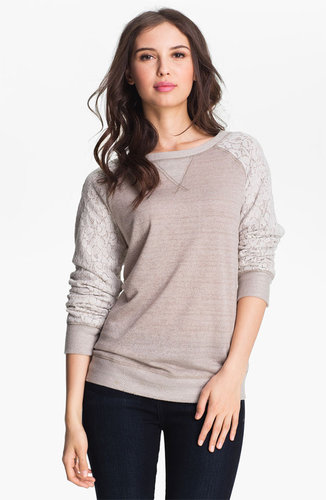 Olivia Moon Lace Sleeve Sweatshirt