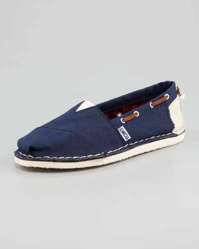 TOMS Bimini Boat Shoe, Navy