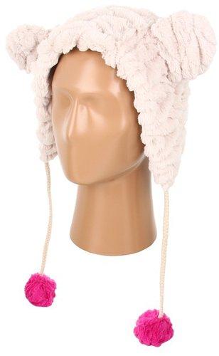 Betsey Johnson - Groovy Faux Fur Critter Hat (Cream) - Hats