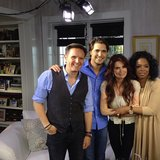 Oprah posed for a shot with producer extraordinaire Mark Burnett and The Bible stars Roma Downey and Diogo Morgado. Source: Instagram user oprah