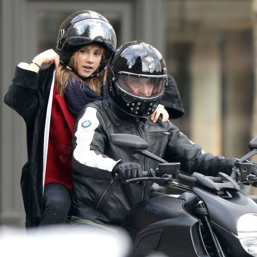 Bradley Cooper Suki Waterhouse on a Motorcycle in Paris