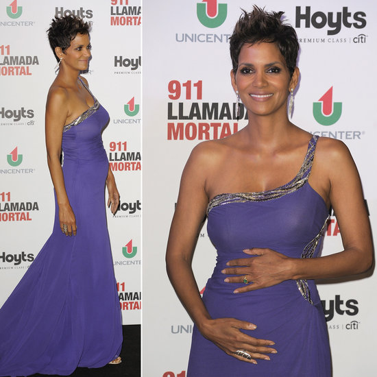 Halle Puts Her Baby Bump on Display in Buenos Aires