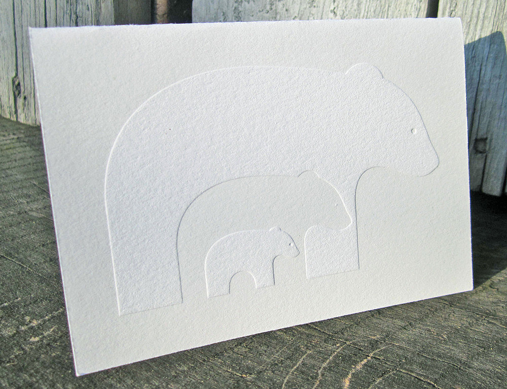 Ink + Wit Bears Letterpress Cards