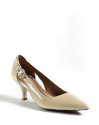 CIRCA JOAN & DAVID Callalily' Lizard-Embossed Pointy-Toe Pumps'