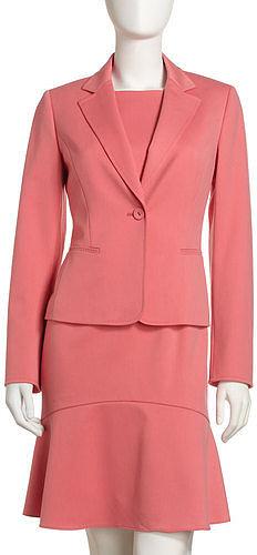 Albert Nipon Gabardine Jacket & Dress Set