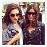 Phoebe Tonkin and Christine Centenera posed for a snap by Kate Waterhouse. Source: Instagram user katewaterhouse7