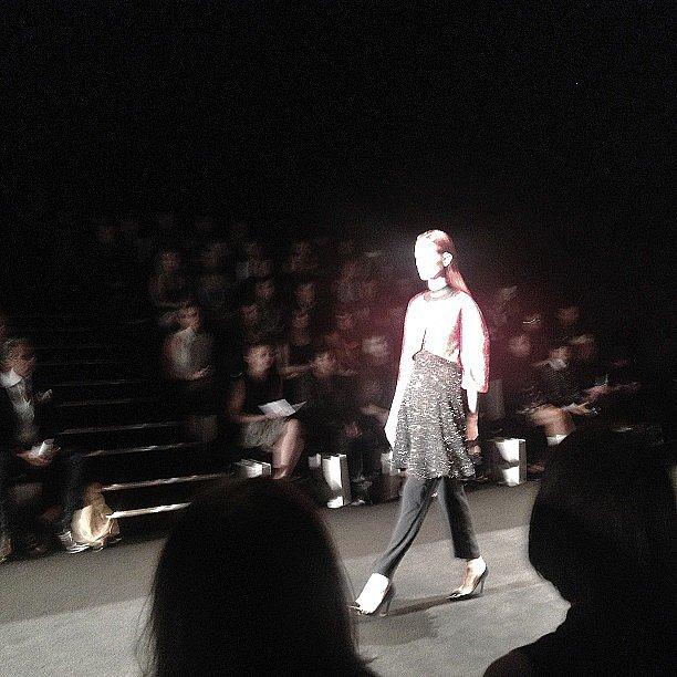 Marie Claire magazine gave us a catwalk-side view of the latest from Jayson Brunsdon's show. Source: Instagram user marie_claire_au