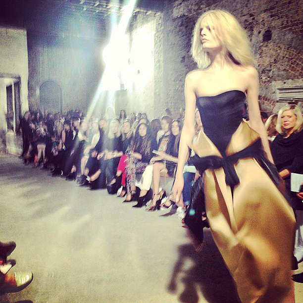 Stylist Pip Edwards snapped this pic of a gorgeous Ellery dress on the runway. Source: Instagram user pip_edwards1