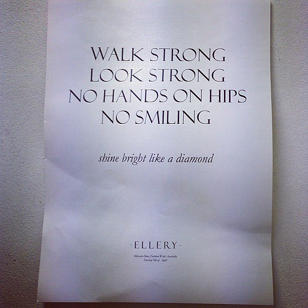 Spotted backstage by Phoebe Tonkin at the Ellery show! Source: Instagram user phoebejtonkin