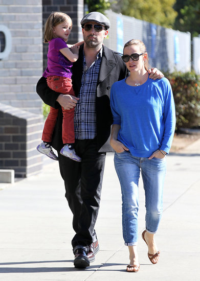 Ben Affleck, Jennifer Garner, and Seraphina stepped out for family day.
