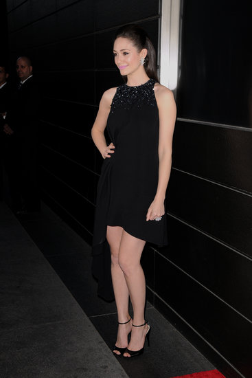 Emmy Rossum wore a sexy LBD for the New Yorkers for Children dinner in NYC.