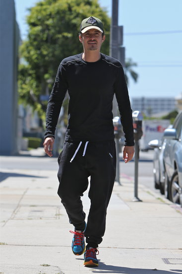 Orlando Bloom walked by himself in LA.