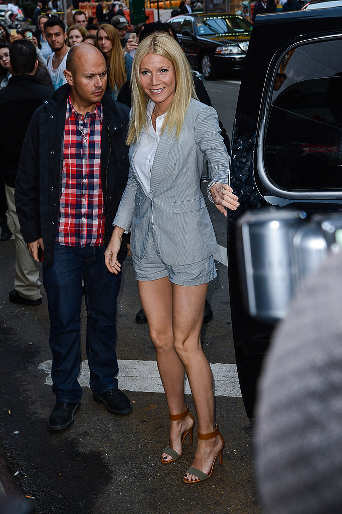 Gwyneth Paltrow made a stop on Good Morning America in NYC.